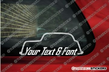 2x Ford Anglia E494A CUSTOM TEXT classic car stickers